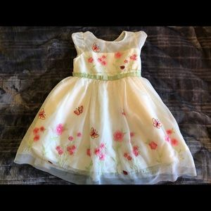 3T cream colored dress with embroidery.